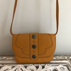 Handbags - Lucky brand yellow crossbody small bag leather